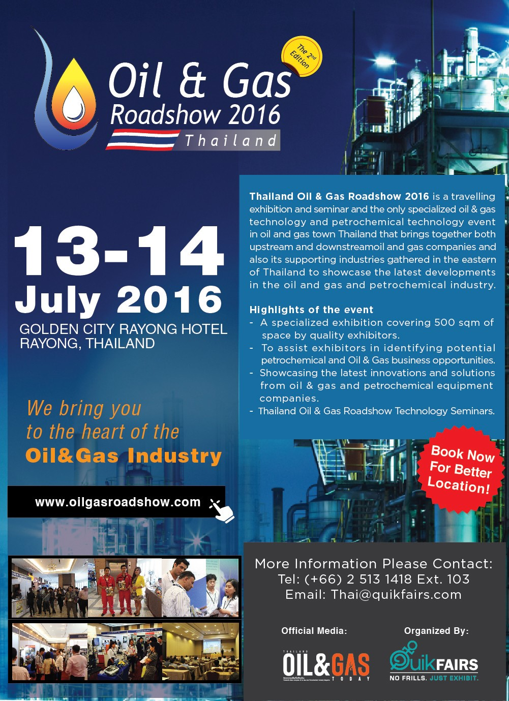 Visit Us at Oil & Gas Roadshow 2016 Thailand Exhibition